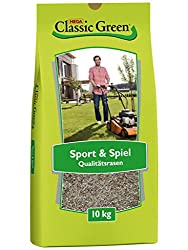 CLASSIC GREEN Lawn Seed Sport and Game Lawn Seed 10kg | Grass seeds | Lawn Seed 10kg | Lawn Sport and Game | Premium lawnseed | Lawn Seed Sport | Lawn seed | Lawn Seed Robust | Lawn seed shadow