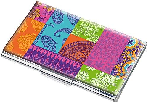 ley Visitenkartenetui - #CDC10-A134 - Mehrfarbig - Metall - Motiv: Coloured Paisley - passend für ca. 11 Karten - Das Original von TROIKA ()
