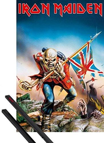 1art1® Póster + Soporte: Iron Maiden Póster 91x61