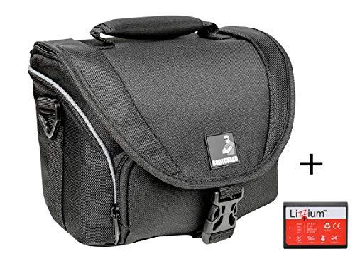 EOS Bundle Tasche für Canon Spiegelreflexkamera EOS 4000D 2000D 1300D 1200D + Qualitäts Ersatz-akku LP-E10