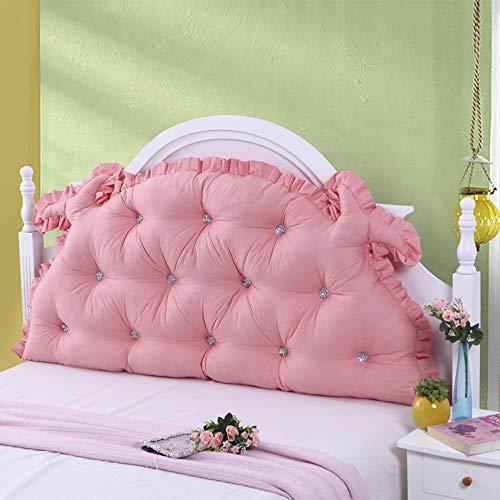 HGDR Bett rückenlehne mädchen Schlafzimmer Bett kopfteil Krone Kissen Kissen Nacht rückenpolster lesekissen lendenpolster mit abnehmbarem Bezug,H-200 * 75 cm -