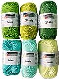 Schachenmayr Catania Wolle Set 8, 6x50g, Grün Mix pompons selber machen DIY: Pompons selber machen – kostenlose Anleitung