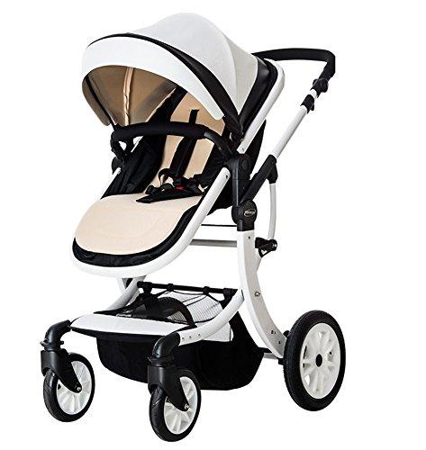 HJHY® Carrosseries de bébé, peut s'asseoir S'allonger Paysage élevé Folding parapluie voiture light Enfant bébé Chariot pour enfant Respirant, confortable ( Couleur : #1 )
