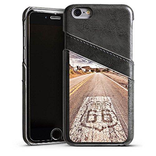 Apple iPhone 5s Housse étui coque protection USA Biker Rue Étui en cuir gris