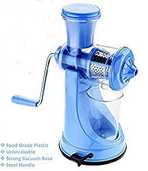Berry Collection Best Fuit Juicer & Slicer with Steel Handle Multiple Color Blue Pack Of 1 (Color May Vary)