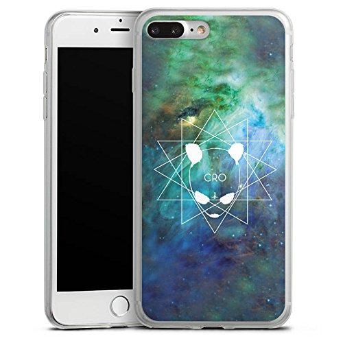 Apple iPhone 8 Plus Slim Case Silikon Hülle Schutzhülle Cro Merchandise Fanartikel Galaxycro Silikon Slim Case transparent