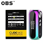 Autentica OBS Cube 80W Box Mod per Sigaretta Elettronica in Lega di Zinco con Display OLED da 0,96', Batteria da 3000mAh, Vifun Bag, senza Nicotina, senza E Liquido (arcobaleno)