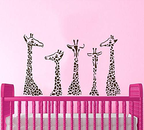 JJHR Wandtattoos Wandaufkleber Sevral Giraffe Animals Series Wandaufkleber Home Wohnzimmer Kunst Dekor Dschungel SafariWandbild 42 * 69 cm (Safari-dekor Für Wohnzimmer)