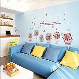 RUIPENGPENG Wall Sticker Aufkleber wasserdicht Abnehmbare für Wohnzimmer Kinder Baby Nursery die Tür zum Bad Fenster Glas Balkon Schiebetür Personalisierte dekorative Wand, handbemalten Blumen, Große
