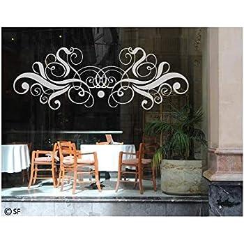Fensterfolie Fensterbild 53x30cm GRAZDesign 980280/_30 Fenstertattoo Ornament Milchglas in 4 Gr/ö/ßen