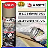 MACOTA 1210087 Stucco Riempitivo Spray Carteggiabile, Grigio, 400 ml