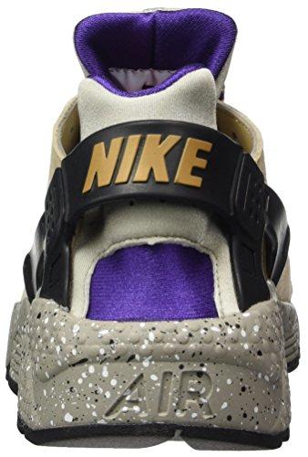 Nike Air Huarache Run Prm, Zapatillas De Deporte Multicolores Para Hombre (lino / Dorado Beige / Negro / Púrpura De Corte)