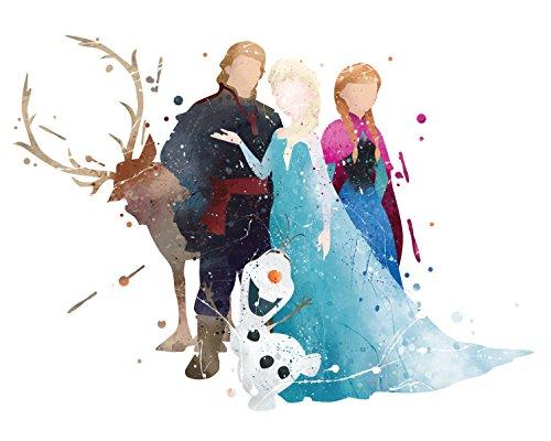8x 10P16Frozen Poster. Watercolor Kunstdruck Inspiriert. Disney Frozen Poster. Prinzessin Art Wand. ELSA, Anna Art Poster. Mädchen Zimmer Wand Art. Kids Art. Geburtstag Geschenk