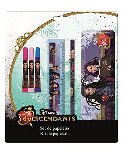 LOS DESCENDIENTES de Disney Set de papeleria con Estuche metalico