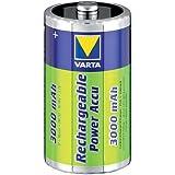 Varta Lot de 2 piles AA rechargeables NiMH Mono D 1,2 V 3000 mAh