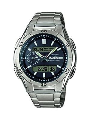 Casio WVA-M650TD-1AER - Reloj de pulsera hombre, Titanio, color Plateado de Casio