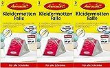 AEROXON Kleider Mottenfallen - Dreierpack = 3x2 Fallen
