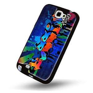 """""""Noms Graffiti"""", conçu pour Yassin, Dur Coque de protection avec des bords noirs pour Samsung Galaxy Note 2 N7100."""