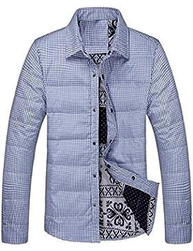 MHGAO Nuevo para la camisa de otoño / invierno de los hombres de Down Jacket , blue , xl
