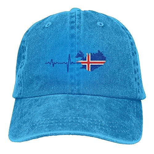Wdskbg Heartbeat I Love Iceland Denim Hat Adjustable Men's Great Baseball Cap Design26 (Infant Baseball Kostüm)