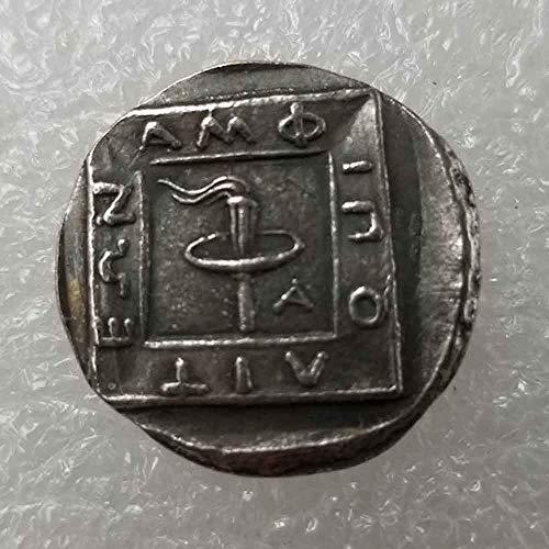 DDTing Alte griechische Gedenkmünzen - antikes Griechenland Münze - griechische Mythologie/griechische Göttin Lehrwerkzeug für Kinder - Handarbeit