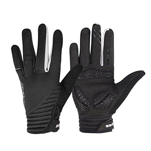 Winter Radfahren Handschuhe, Winddicht Smartphone Touchscreen Schock Beweis EVA Pad Rutschfeste Silikon Handschuhe w Klettverschluss Vollfinger Fahrrad Motorrad Outdoor