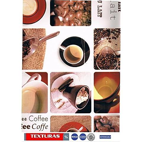 Texturen Home Tischdecke aus Wachstuch ECKIG 200x 140cms mit Biese Cafe au Lait Waterproof
