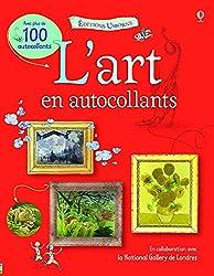 LIVRE D'ART AVEC AUTOCOLLANTS