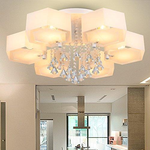 CLG-FLY Camera da letto lampada di soffitto luci Salone minimalista moderno,Tre LED + inviati inviati lampadine telecomandate,Luce gialla