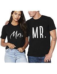 King Camiseta Pareja Queen Shirt Blanco Negro 100% Algodón Impresión  T-Shirt Manga Corta 2 Piezas Verano para Parejas Mujer Hombre… fb39836d959e6