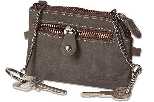 woodland-borsa-in-pelle-chiave-con-2-portachiavi-e-cerniere-in-metallo-ykk-in-morbido-pelle-di-bufal