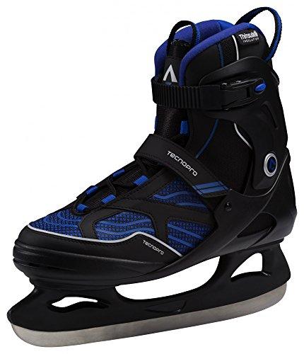 Tecnopro Herren Complet Hurricane Eishockeyschuhe, Schwarz/Blau, 42