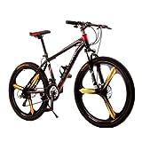 Mountain Bike Radsport 21 Geschwindigkeit 26 Zoll/700CC Doppelte Scheibenbremsen Federgabel Vollfederung Rutschfest für Herren und Damen