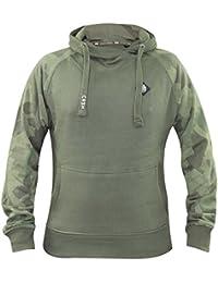 New Mens Crosshatch Brand Printed Pullover Hoodie Camo Style Sweatshirt Top