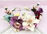 Corona de flores, cinta de la flor guirnalda mano de la novia de la boda partido de la cinta cinta de la venda pulsera ( Color : C )