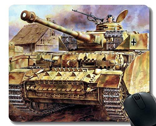 Preisvergleich Produktbild Anti-Rutsch-Mauspad-Matte,  Militär Panzer IV Mousepad