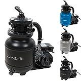 Miganeo 40385 Sandfilteranlage Dynamic 6500 Pumpleistung 4,5m³ blau, grau, schwarz, für Pool...