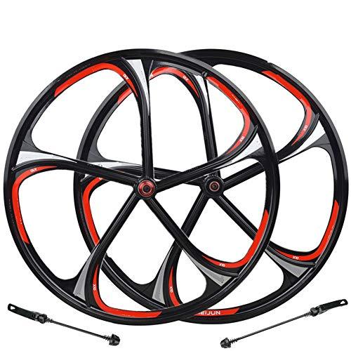 Gimitunus Aleación de magnesio de 26 Pulgadas Rueda de magnesio 5/6 con cojinete de una llanta Tipo de Tarjeta de Bicicleta de montaña Rotary One Wheel