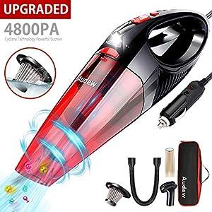 limpieza aire acondicionado: Audew Aspirador Coche 120W con Bolsa de Transporte 5M Cable Auto Vacuum Cleaner ...