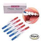 Bürsten für die Zahnzwischenräume (50Stück) von River Lake, Zahnstocher, Zahnseide, Dental-Hygiene-Bürsten, Werkzeug zur Zahnreinigung
