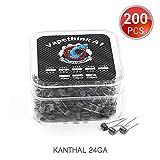 200 PCS Kanthal A1 24 AWG Coil Préfabriqués, Vapethink Fil de Résistance Wire, 0.5 ohm