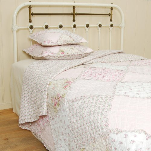 Q020.060 Clayre & Eef Tagesdecke Quilt Plaid APRIL rosa/weiß 180x260 cm