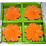 BHARATSTALL Handmade Water Floating Wax Diya Beautifully Crafted Flower Shape Diya | Best For Diwali Decoration And Laxmi Pooja.(set Of 4) (MADE IN INDIA) 100% ENVIRONMENT FRIENDLY.