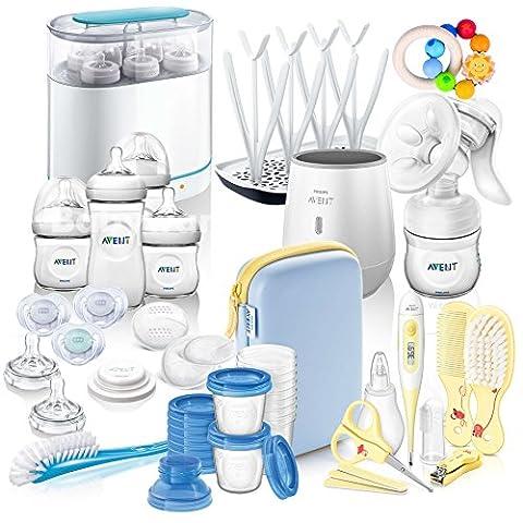 Philips Avent Naturnah Kit de démarrage kit mega IV All-in-One–avec beaucoup d'accessoires–Kit de démarrage Allaitement & pflegen