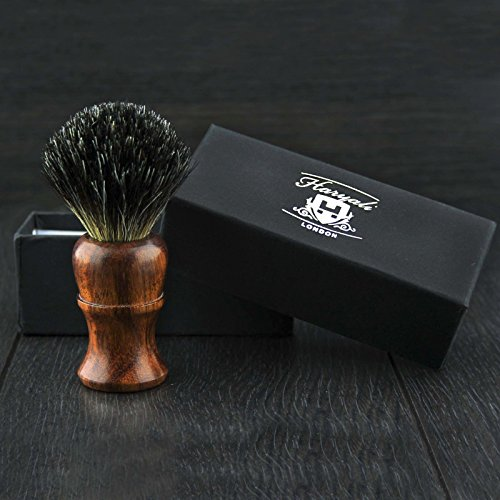 Haryali London BRAND NEW - 100% PURE BADGER HAIR SHAVING BRUSH - Rose Wood Wooden Brush by Haryali London