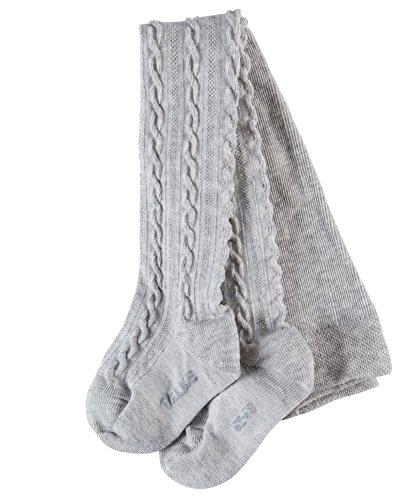 FALKE Babys Strumpfhosen Cable, Baumwollmischung, 1 Stück, Grau (Stormy Grey 3822), Größe: 80-92