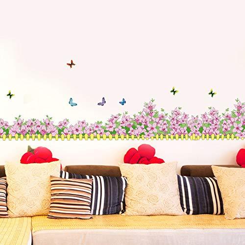Wandtattoos &Wandbilder Schmetterling Fliegen Baseboard Schlafzimmer Ecksofa Bad Wohnzimmer Wandaufkleber Malerei 196 * 32 Cm