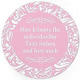 24 PERSONALISIERTE runde Etiketten mit Motiv: Rosa Schnörkel - Ihre Aufkleber online selbst gestaltet, ganz individuell