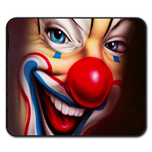 Kostüm Gruselig Narr - Clown Unheimlich Gruselig Grusel Mouse Mat Pad, Lächeln Rutschfeste Unterlage - Glatte Oberfläche, verbessertes Tracking, Gummibasis von Wellcoda