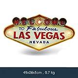 JAMILA Las Vegas Willkommen Neon Zeichen für Bar Vintage Wohnkultur Malerei Beleuchtet Hängen Metall Zeichen Eisen Pub Cafe Wand Dekoration